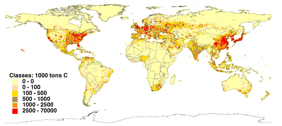 Map: Carbon Dioxide Emission Estimates